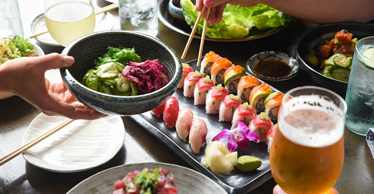 Blue Sushi Sake Grill Spread.jpg