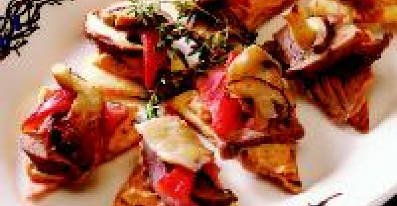 Roasted Mushroom Hummus And Steak Bruschetta Restaurant Hospitality