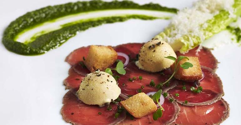Carpaccio_of_Herb-Crusted_Elysian_Fields_Baby_Lamb_Loin_with_Caesar_Salad_Ice_Cream.jpg