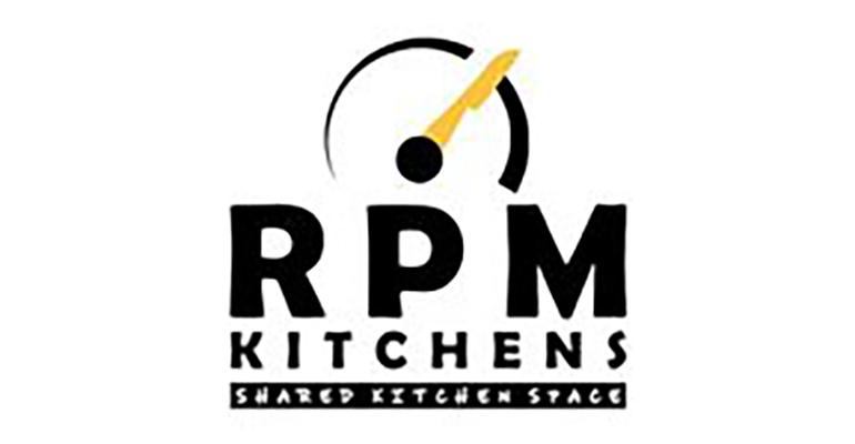 The logo for RPM commissary kitchen, a shared kitchen space located in Austin, Texas for cooks of all levels and available for rental has now opened a counter service.