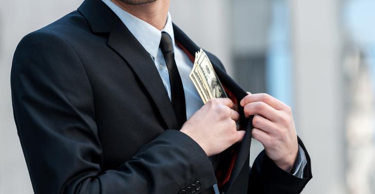 embezzlement take money