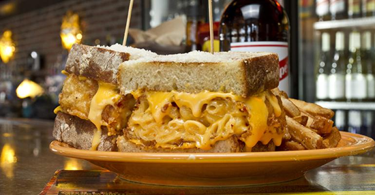 The Melt grilled cheese sandwich
