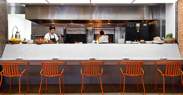 Inside Odys + Penelope, a churrasco and grill