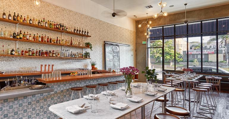 Sawyer Restaurant Los Angeles