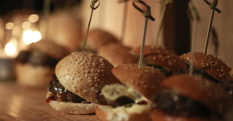 slider hamburgers