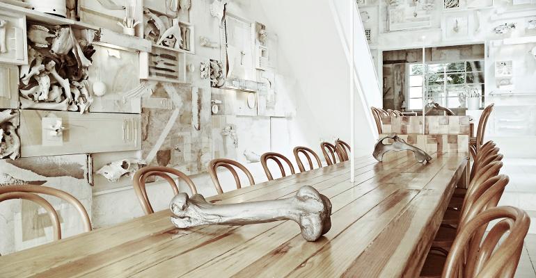 Creating that bare-bones aesthetic Guadalajara Hueso restaurant