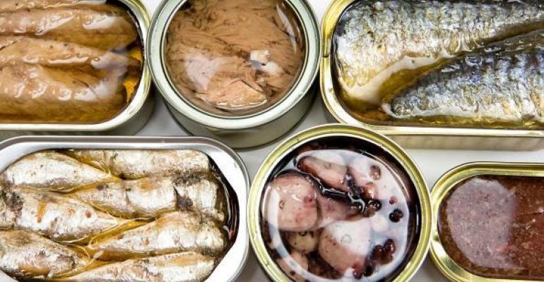 tinned seafood
