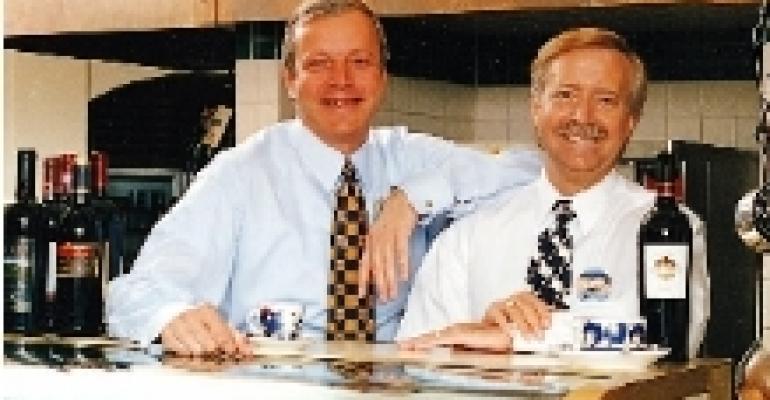 Brad Blum and Bob Mock, President and Executive Vice President (Operations), respectively, Olive Garden Restaurants, Orlando, FL