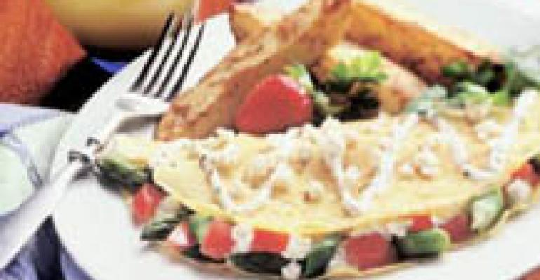 Asparagus, Tomato and Feta Cheese Omelet