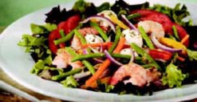 Spring Salad with Pistachio Vinaigrette