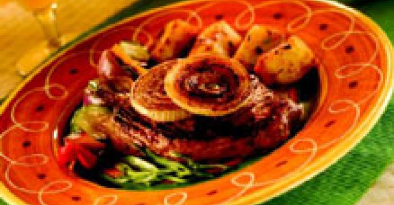 Grilled Flat Iron Steak with Beer Marinade