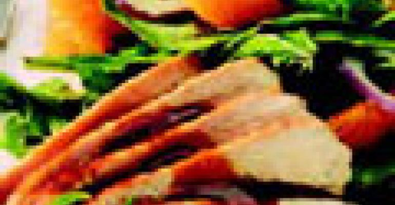 Warm Chicken Salad with Tangerine, Tarragon and Arugula