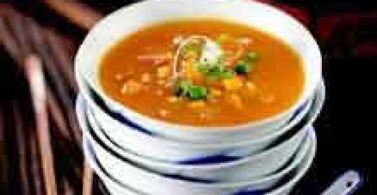 Tri-Color Pumpkin Soup