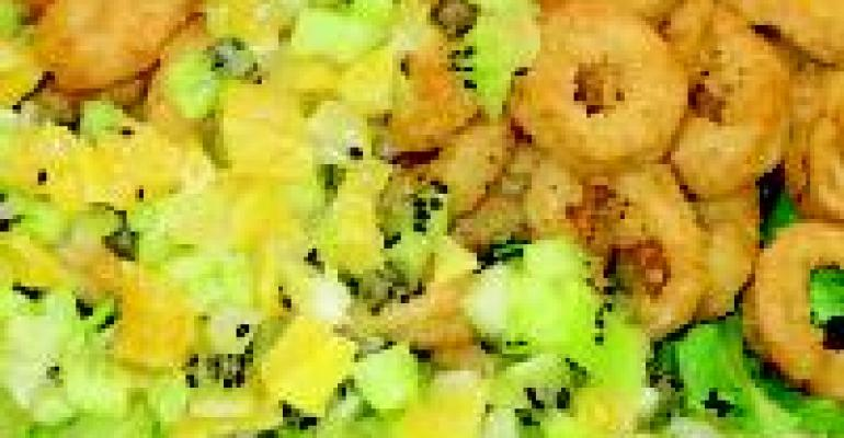 Breaded Calamari with Fresh Fruit Salsa