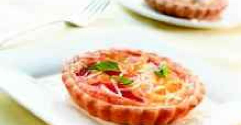 Heirloom Tomato and Wisconsin Asiago Tart