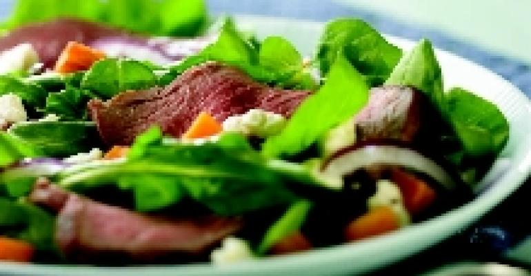 Warm Australian Lamb Salad with Sweet Potato