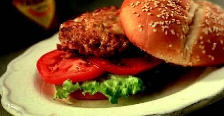 Spiked Italian Mozzarella Burgers