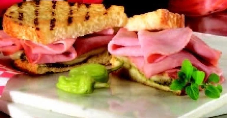 Italian Pesto Hot Ham Grill