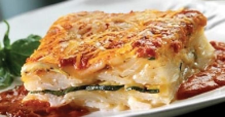 Potato Lasagna with Grilled Zucchini