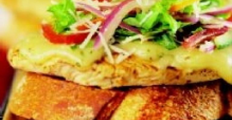 Turkey Bruschetta with Mezzo Secco and Jack Cheese