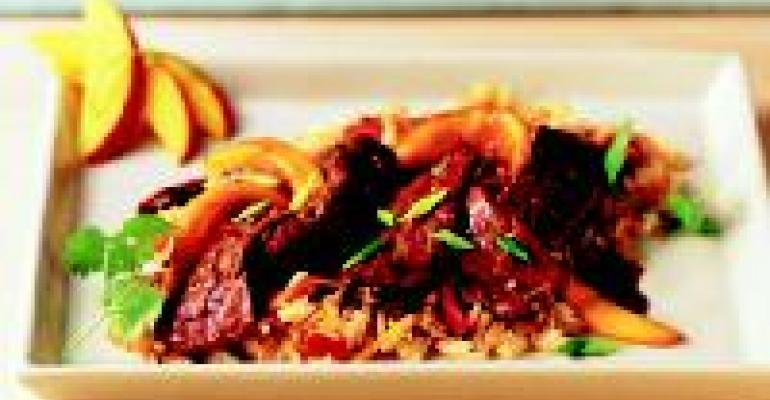 Thai Steak Strips with Mango Fried Rice