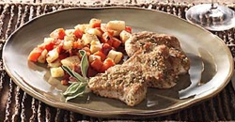 Pumpkin Seed Crusted Turkey Medallions