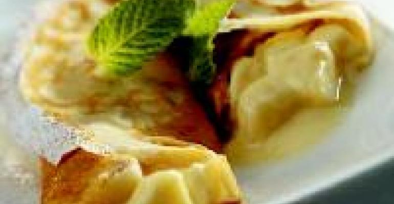 Banana and Yogurt Crepes