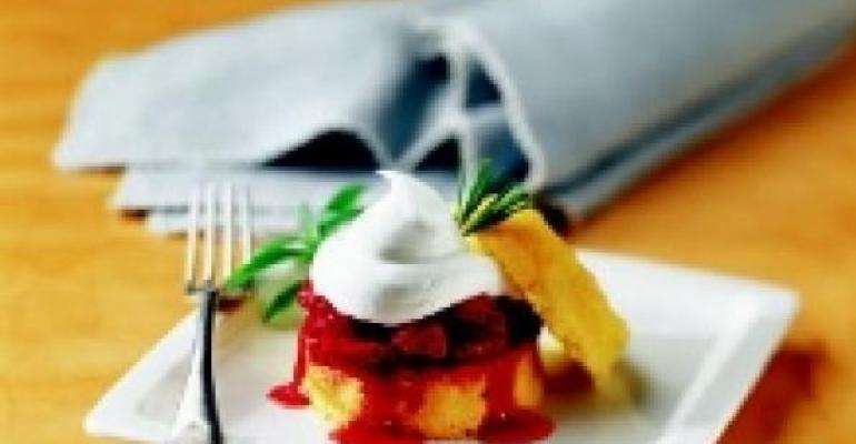 Elissa's Semolina Shortcake with Fresh Strawberries