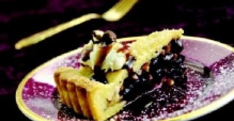 Macerated Bing Cherry Tart with Toasted Hazelnuts and Wisconsin Mascarpone