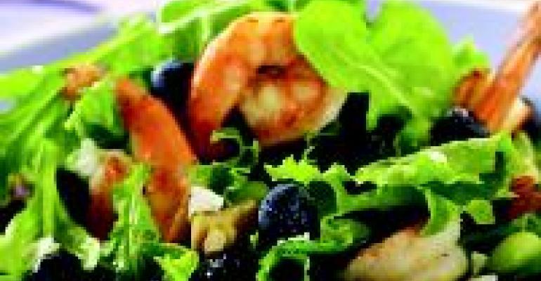 Blueberry Shrimp Edamame Salad with Lemon Vinaigrette