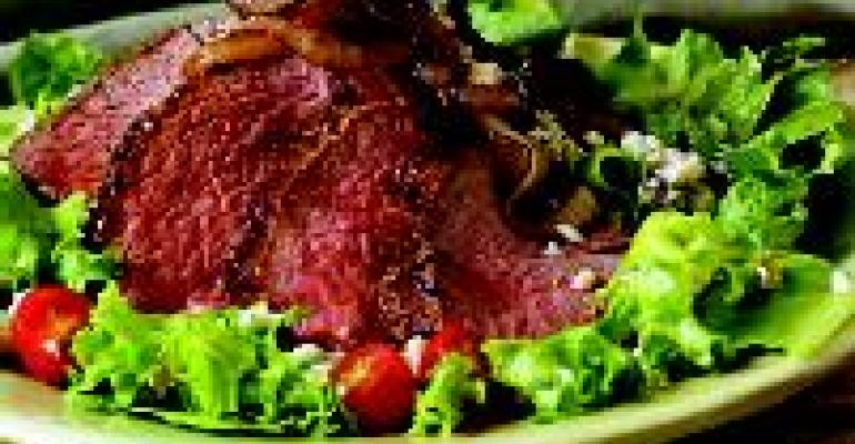 Petite Tender Steak Salad with Worcestershire Dressing