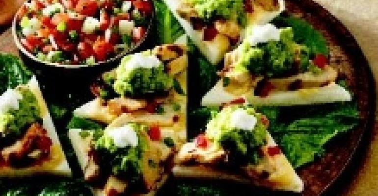 Spicy Chicken and Jicama Nachos