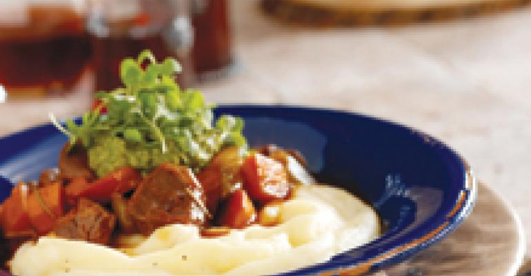 Lamb Stew with Pesto and Arugula
