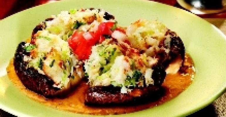 Portobello Mushroom Stuffed with Crab Meat