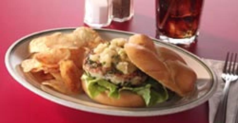 Grilled Turkey Burger with Apple Chutney