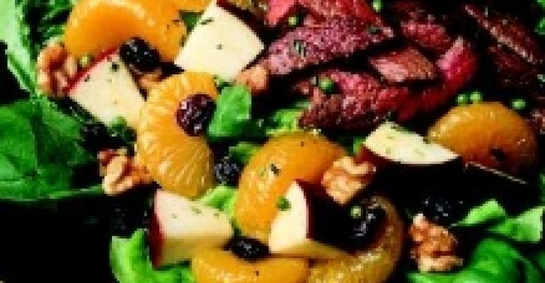Warm Walnut American Lamb Salad