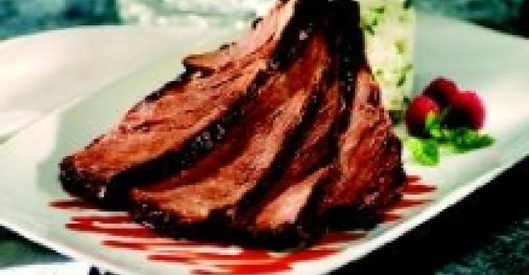 Short Ribs with Raspberry Barbecue Sauce