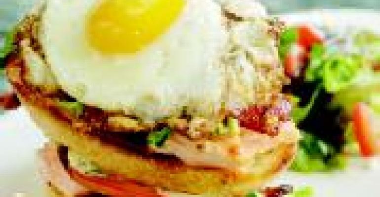 Fried Egg Salmon BLT