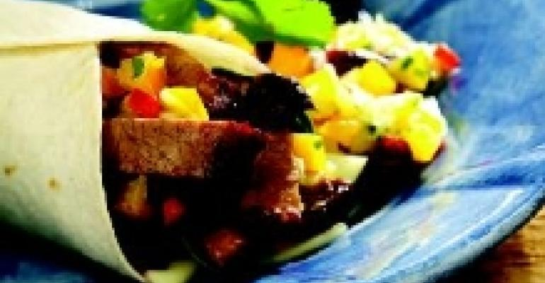 Beef Wrap with Cherry Salsa