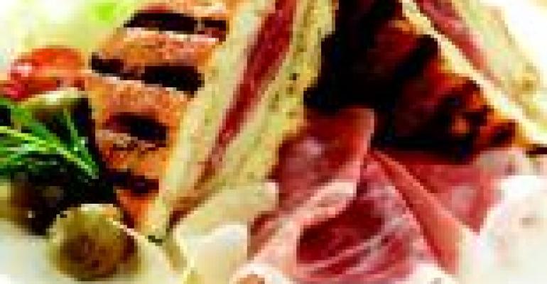 Grilled Cheese and Prosciutto di Parma Panini