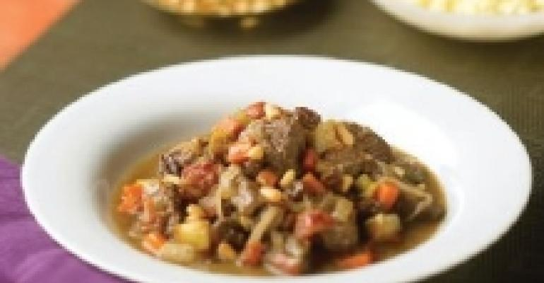 Sweet and Spicy Australian Lamb Tagine