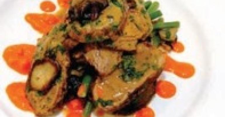 Veal Shoulder Paillards with Idaho Potato Green Bean Salad