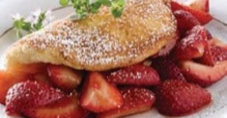 Souffle Omelet with Balsamic Strawberries