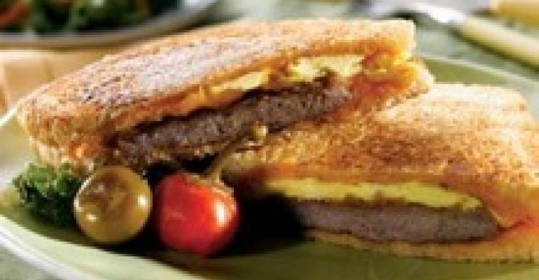 Grilled Sausage and Cheddar Panini