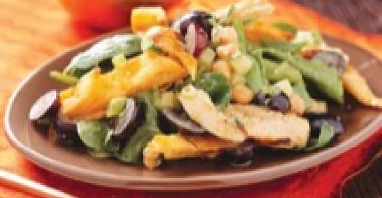 Masala Chicken Salad with Grapes