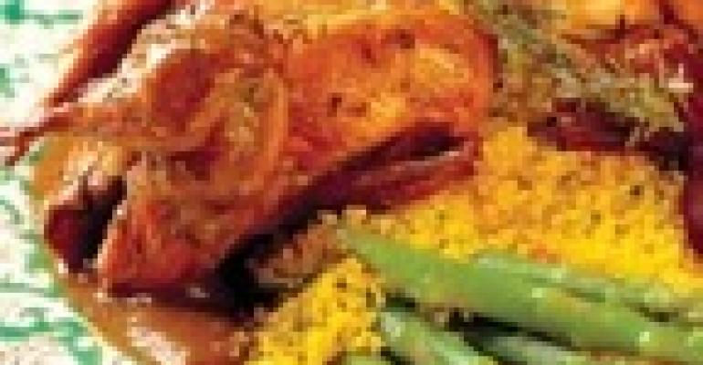 Roast Quail with Onion-Cumin Jus