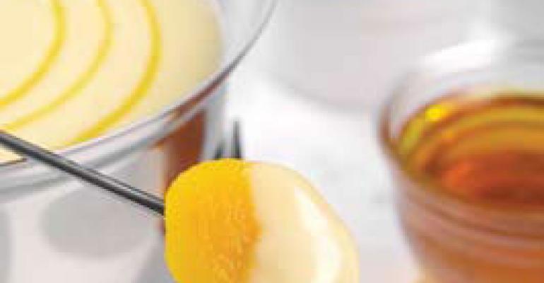 White Chocolate Fondue with Scotch