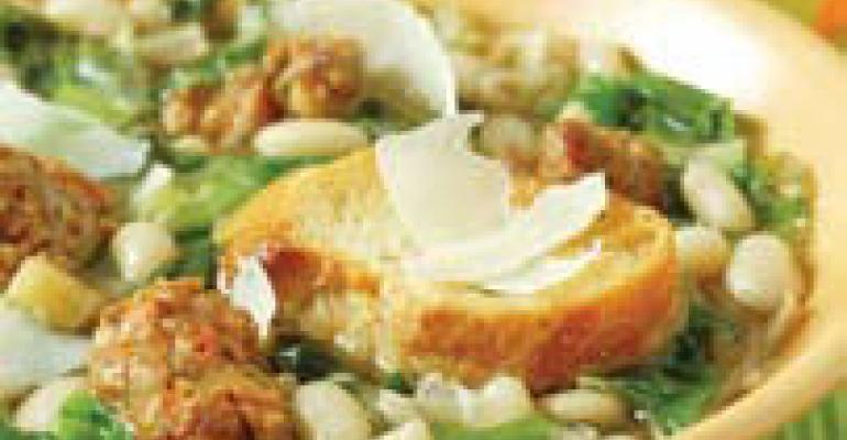 White Bean Soup with Parmigiano-Reggiano Crostini