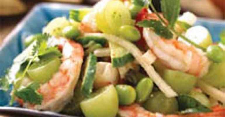 Shrimp and Grape Salad with Lemongrass Vinaigrette