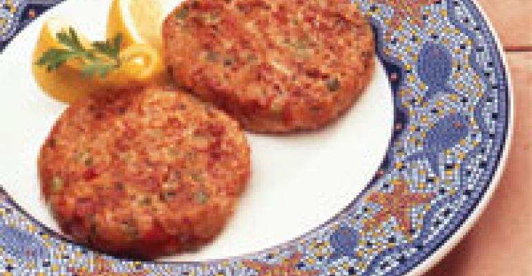 Crab Cakes Mediterranean Style